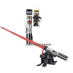 Star Wars Year 2006 Galactic Heroes Series 32 Inch Long Red Lightsaber Plus DARTH VADER 2-1/2 Inch Tall Figure