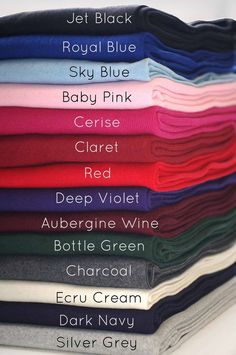 Neotrims Cotton Mix Lycra Type Stretch Knit Rib Fabric to Trim Garments, Waistbands, Cuffs and Welts. Color Mixing Chart, Color Combinations For Clothes, Fashion Dictionary, Fashion Vocabulary, Fabric Names, Color Psychology, Colour Pallete, Ribbed Fabric, Cotton Fabric