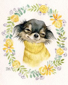 Effective Potty Training Chihuahua Consistency Is Key Ideas. Brilliant Potty Training Chihuahua Consistency Is Key Ideas. Dogs Tattoo, Chihuahua Tattoo, Chihuahua Art, Chihuahua Drawing, Dog Illustration, Illustrations, Animals Watercolor, Watercolour, Animals And Pets