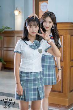School Uniform Outfits, Cute School Uniforms, College Outfits, Teen Actresses, Korean Actresses, Korean Actors, Korean Drama Stars, Cute Korean Girl, Kdrama Actors