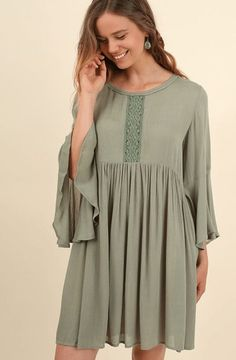 Can't Stop Staring Tied Together Lace Dress - Green
