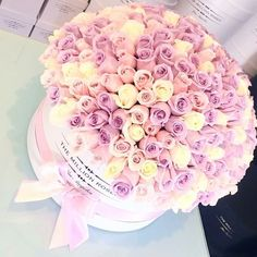 The Million Roses Beautiful Bouquet Of Flowers, Beautiful Flower Arrangements, Flowers Nature, Amazing Flowers, Love Flowers, Beautiful Roses, My Flower, Luxury Flowers, Box Roses
