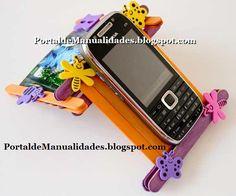 Sostén para celular ~ Portal de Manualidades