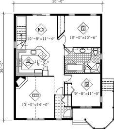Victorian House Plan 49462 with 2 Beds, 1 Baths Level One 2 Bedroom House Plans, Cottage Style House Plans, Family House Plans, Country House Plans, Best House Plans, Small House Plans, House Floor Plans, Victorian House Plans, Victorian Homes