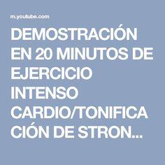 DEMOSTRACIÓN EN 20 MINUTOS DE EJERCICIO INTENSO CARDIO/TONIFICACIÓN DE STRONG BY ZUMBA® - YouTube