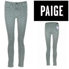 """Paige Hoxton Skinny Jeans 99% cotton, 1% elastane.  Approx inseam 28-1/2"""", rise 9"""", waist 15"""".  Belt loops, 5 pockets.  Cover shot right pics truest color.  ////NWOT////. (3) Paige Jeans Jeans Skinny"""