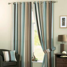 Curtains living room - The living room curtains are a very important decorative detail for the interior. The modern living room curtains. Ready Made Eyelet Curtains, Lined Curtains, Modern Curtains, Window Curtains, Cream Curtains, Brown Curtains, Curtain Panels, Contemporary Bedroom, Modern Bedroom