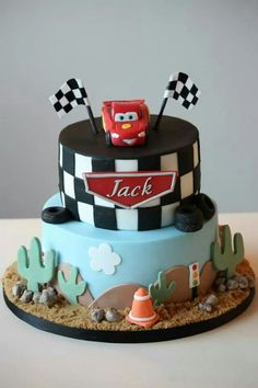 Lightening Mcqueen Cars Cake