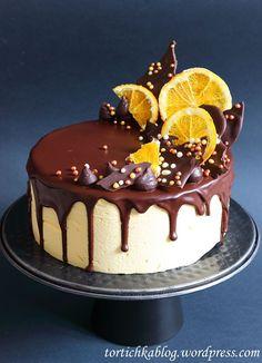 Chocolate Cake Designs, Chocolate Drip Cake, Chocolate Sweets, Chocolate Orange, Buttercream Cake Designs, Cake Decorating Frosting, Cake Decorating Designs, Chocolate Birthday Cake Decoration, Christmas Ice Cream Cake