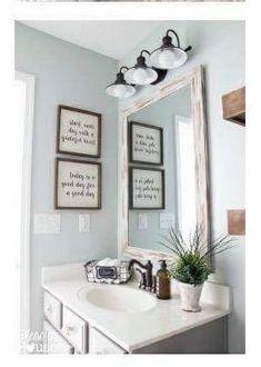 Bathroom lights, picture placement, decor