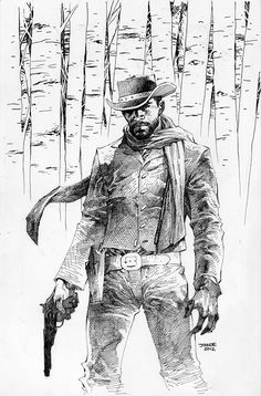 Django Unchained #1 (2012) by Jim Lee (also one of my favorite films.)