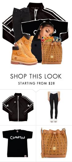 """_wheretheyatthotheyhating_"" by deasia-still-thugin-honey ❤ liked on Polyvore featuring adidas, Cheap Monday, MCM, Timberland, women's clothing, women, female, woman, misses and juniors"