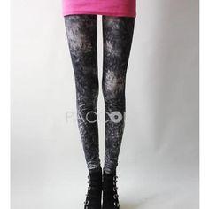 Crop Base Pants Summer Printing Pants Vintage Painting Fashion
