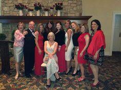 Maggie Kemler, Tom McCormack, Patrice Carden, Vanessa Dooley, Deirdre Kelly, Tiff Metcalf, Irene Zitzner, Linda Gillespie and Kathy Grabowy. In front Carolynn Diakon Honoree of The Red Cross Clara Barton Humitarian Award.