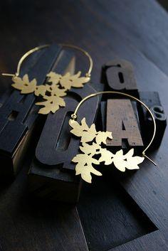 hojas cuero pendientes                                                       …