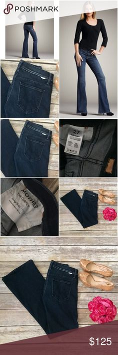 "Mother Jeans The Curfew Bell Bottom Strange Brew Gorgeous Mother jeans in size 27. Style is ""The Curfew"", which is a bell bottom style that makes your legs look really long and lean. Wash is ""Strange Brew"", which is a darker rinse as pictured. These are in excellent condition with no flaws to note. ⚓️No trades or holds. I accept reasonable offers. I only negotiate through the offer button. I do not model. I ship within two business days of your order. I only use Posh. 🚭🐩 MOTHER Jeans Flare…"
