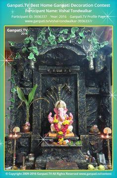 Vishal Tondwalkar Home Ganpati Picture 2016. View more pictures and videos of Ganpati Decoration at www.ganpati.tv
