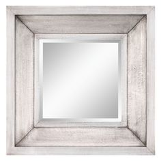 Powder Room:  Garner Metal Wrapped Decorative Square Mirror - 28W x 28H in. | from hayneedle.com