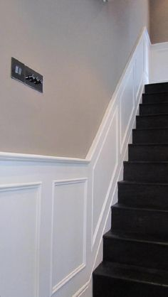 Wall Panelling Wood, Wall Panels, Painted,-Stair Panels More – hallway Stair Paneling, Stair Walls, Hallway Walls, Wood Panel Walls, Wood Paneling, Wall Panelling, Hallways, White Wall Paneling, Wood Stairs