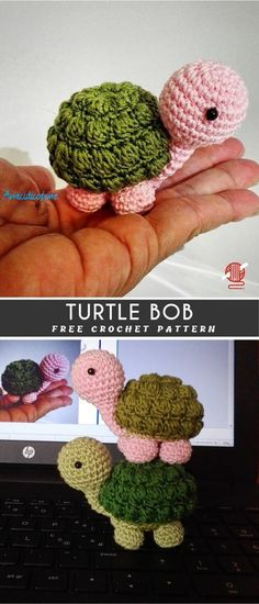Turtle Amigurumi or Keychains Crochet FREE - Hetty J. Turtle Amigurumi or Keychains Crochet FREE - Crochet Gratis, Crochet Patterns Amigurumi, Cute Crochet, Baby Knitting Patterns, Crochet Dolls, Knit Crochet, Crochet Turtle Pattern Free, Crochet Ideas, Easter Crochet