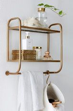 The brass and the shape. // Ellos Home Hylla Thelma Mässing - Hyllor | Ellos Mobile