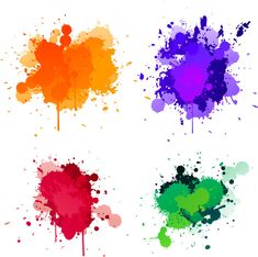 Watercolor ink ink PNG element material