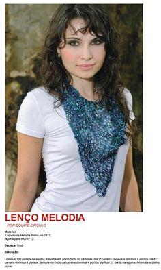 Receita de lenço em tricô Lenço com Fio Melodia Circulo Baby Knitting Patterns, Crochet, Vest, T Shirts For Women, Beauty, Virginia, Blog, Accessories, Red Comforter