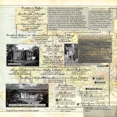 Scrap a family tree page about ancient ancestors. Document the origins of the family name and use stock photos for places of birth.