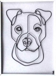 Oscar 20181105_162551-1 – ARTA SÂRMEI Pitbull Drawing, Stylo 3d, Cutlery Art, Wire Wall Art, Wire Art Sculpture, Welding Art, Wire Crafts, Metal Artwork, Pen Art
