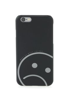 Turn that frown upside down. Marc by Marc Jacobs Reflective Unsmiley Face iPhone 6 Case in Black