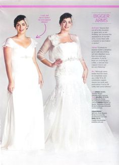 Cosmo Real Bride Wedding Gown Tips For S With Ger Arms