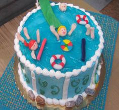 1000 Images About Swimming Pool Cake Tutorial On Pinterest Swimming Pool Cakes Pool Parties