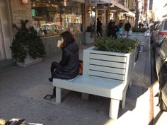 Tree Pit Bench in front of McNally Jackson Books - 52 Prince Street, New York, NY 10012 - Photo: Mike Lydon