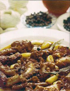 ΠΑΝ ΜΕΤΡΟΝ ΑΡΙΣΤΟΝ: Χταπόδι κρασάτο... Νηστίσιμα φαγητά με συνταγή Αγί... Vegan Vegetarian, Chili, Soup, Beef, Lenten, Meat, Chile, Soups, Chilis