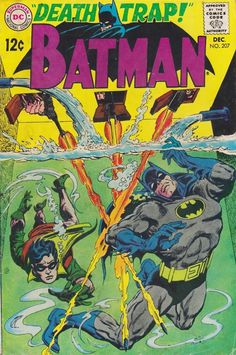 Batman #207 (1968). Cover art: Irv Novick. Publisher: DC Comics.  The Best UNDERWATER Comic Book Covers.  A collection of some of the top underwater comic book covers ever created - album by BATCAVE DWELLER!