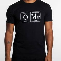 OMG T-Shirt Mens Black now featured on Fab.