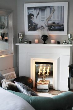 Great idea for faux fireplace