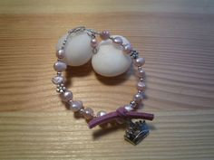 Handmade Kids' Pink Freshwater Pearls Bracelet by urbaneprincess