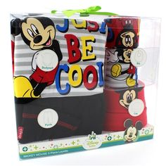 Disney Mickey Mouse Baby 5 pc Layette Gift Set. Great gift for Valentine's Day or Easter! www.YankeeToyBox.com #yankeetoybox #ytb #disney #mickeymouse #giftset #layette