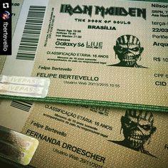 E você? Já comprou o seu ingresso? #ironmaiden #uptheirons #ironmaidenbrasil #livepass