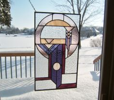 Dream catcher stained glass panel window prairie style by SGHovel, $119.00~ 18 x 10