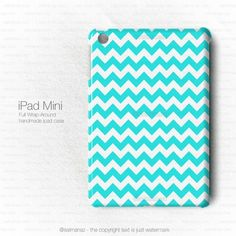 Chevron Anchor Blue Mint Tiffany iPad Mini Case | uniqphonecase - Accessories on ArtFire