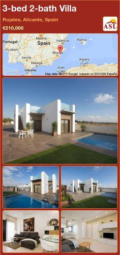3-bed 2-bath Villa in Rojales, Alicante, Spain ►€210,000 #PropertyForSaleInSpain