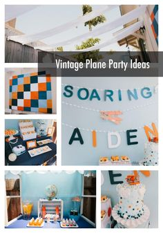 Vintage plane party ideas