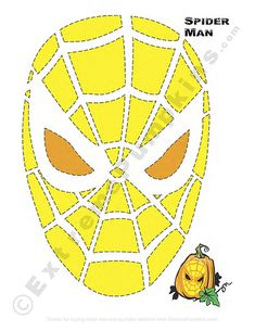 Spiderman pumpkin pattern by Dave L, via Flickr