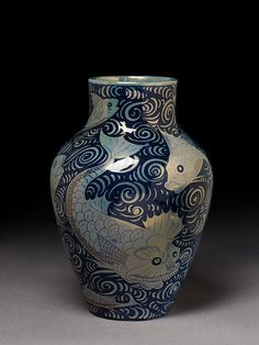 Vase, ca. 1895, earthenware with lustre decoration.