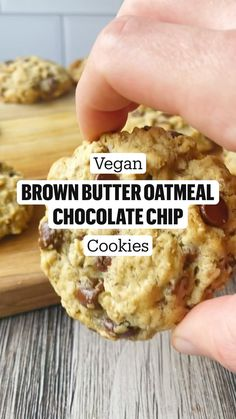 Healthy Muffin Recipes, Vegan Dessert Recipes, Vegan Sweets, Baking Recipes, Cookie Recipes, Healthy Food, Oatmeal Chocolate Chip Cookies, Plant Based Recipes, Food Porn