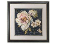 Marche De Fleurs On Black Framed Art