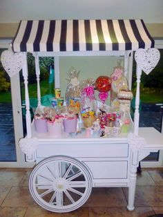 Candy buffet at wedding party, kids love it!