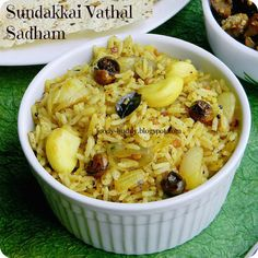 Sundakkai (Sunda) Vathal Sadham / Dried Turkey Berry Rice